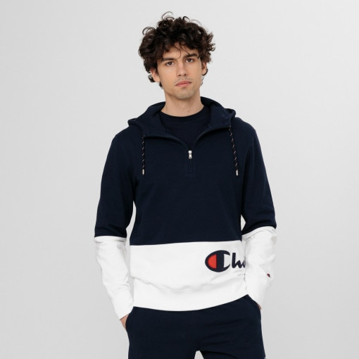 CHAMPION Męska bluza CHAMPION Half Zip Hooded Sweatshirt