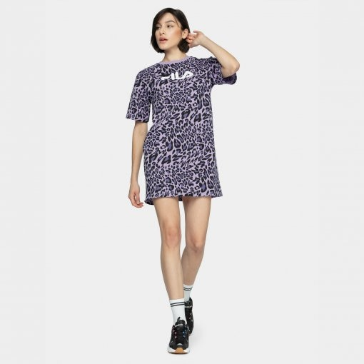 Sukienka FILA WOMEN SATINKA AOP tee dress
