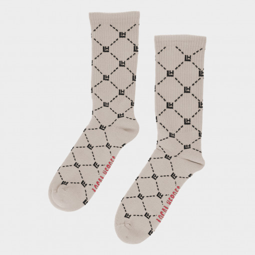LOCAL HEROES Damskie skarpetki LOCAL HEROES MONOGRAM NUDE SOCKS