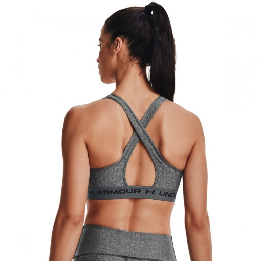 Damski biustonosz treningowy UNDER ARMOUR UA Crossback Mid Heather Bra