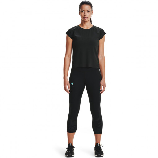 Damskie legginsy treningowe  UNDER ARMOUR UA Rush Tonal Capri PKT NS
