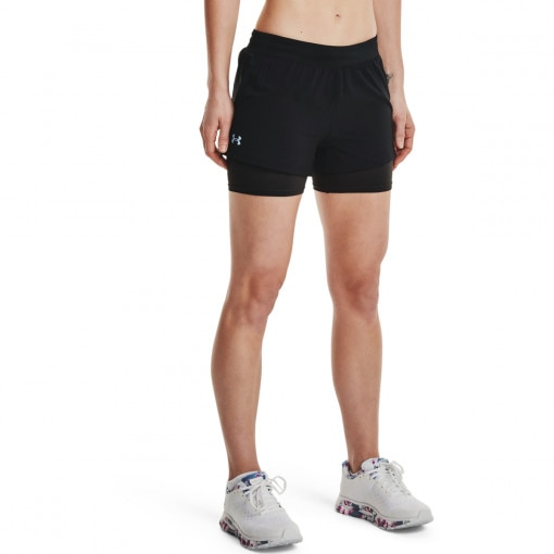 Damskie spodenki do biegania UNDER ARMOUR UA IsoChill Run 2N1 Short