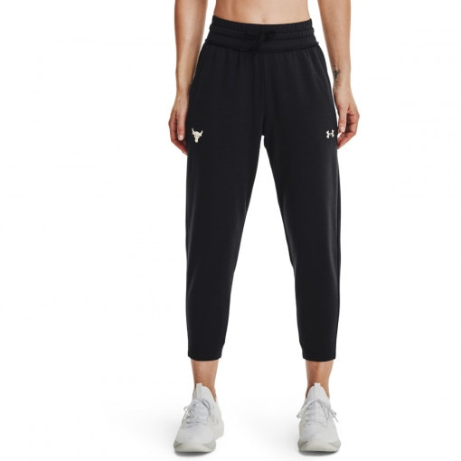 Damskie spodnie treningowe UNDER ARMOUR UA Prjct Rock Terry Crop Pnt