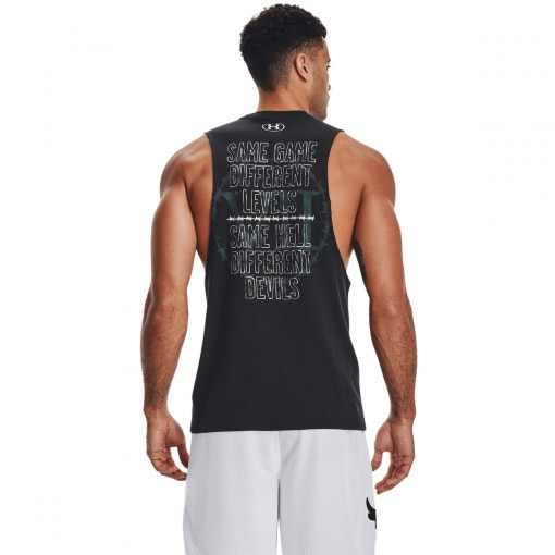 Męski top treningowy UNDER ARMOUR UA Pjt Rock Same Game Tank