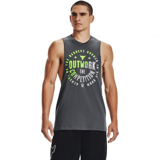 UNDER ARMOUR Męski top treningowy UNDER ARMOUR UA Project Rock Outwork Tank