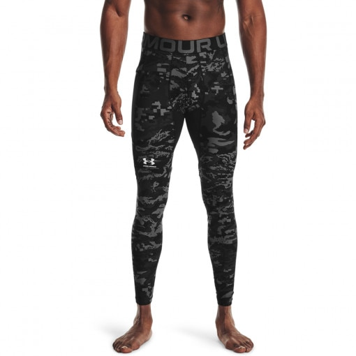 Męskie legginsy treningowe UNDER ARMOUR UA HG Armour Camo Lgs