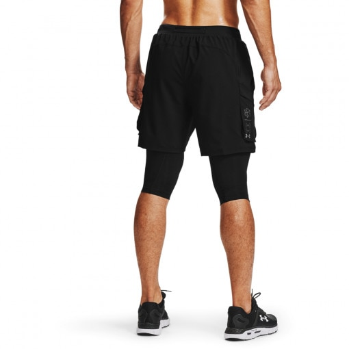 Męskie spodenki do biegania UNDER ARMOUR Run Anywhere 2N1 Long STS